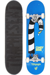 "Trap Skateboards Candy Kane 7.75"" Complete-Board (blue)"