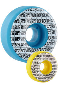 SK8DLX Basti Rolls 53mm Rollen 4er Pack  (aqua yellow)
