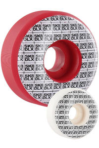 SK8DLX Basti Rolls 54mm Rollen 4er Pack  (red white)