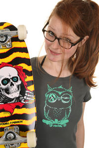 Iriedaily Skateowl T-Shirt girls (anthracite)