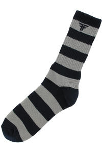 Fallen Trademark Striped Socken (dark navy light grey)