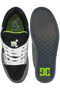 DC K. Block Union Schuh (black soft lime print)