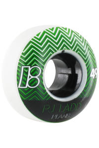 Plan B Ladd Elite 49mm Rollen 4er Pack  (white green)