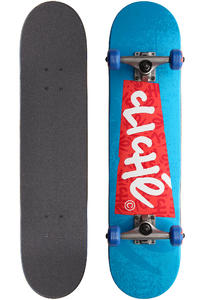 "Cliché Stickerbox 7.5"" Complete-Board (blue)"