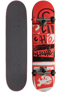 "Cliché Letterpress 7.75"" Complete-Board (red)"
