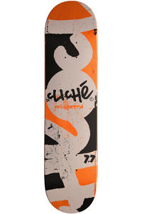 "Cliché Press Pre-Gripped 7.75"" Deck (orange grey)"