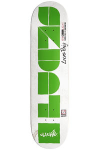 "Cliché Puig Laser Cut Carbonlight 8"" Deck (white green)"
