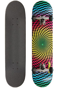 Speed Demons Hippie Checks 7.75&quot; Complete-Board (blue yellow pink)