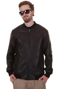 Nixon Distort Faux Leather Jacket (black)