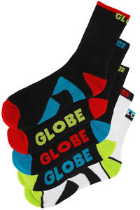 Globe Destroyer Colour Socks 5er-Pack US 7-11  (assorted)