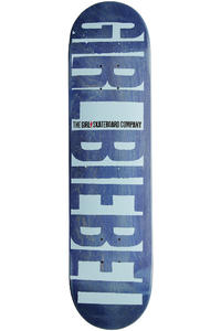 "Girl Biebel Big Girl Invert 7.875"" Deck (blue)"