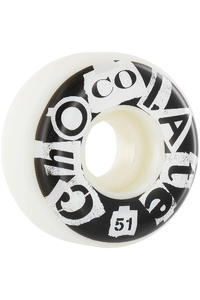 Chocolate Cut & Paste 51mm Wheel 4er Pack  (black white)