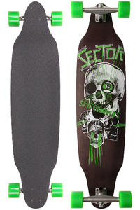 "Sector 9 Carbon Decline - Platinum Series 40.5"" (103cm) Komplett-Longboard (green)"