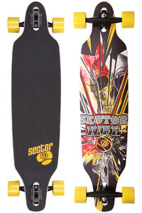 "Sector 9 Fractured - Platinum Series 40"" (102cm) Komplett-Longboard (red)"