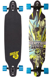 "Sector 9 Fractured - Platinum Series 40"" (102cm) Komplett-Longboard (blue)"