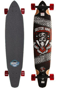 Sector 9 Co-Pilot - OG Series 42&quot; (107cm) Complete-Longboard (red)