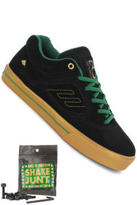 Emerica Reynolds 3 Suede x Shake Junt Schuh (black green gold)
