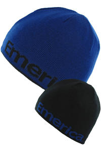 Emerica Pure Beanie reversible  (black blue)