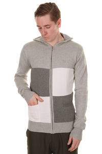 Makia Check Zip-Hoodie (grey)