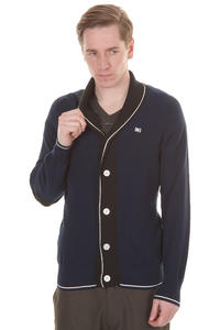 Makia White Stripe Cardigan (navy)