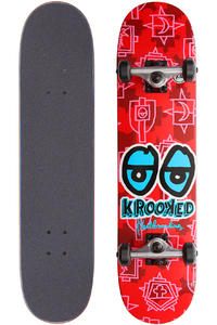 "Krooked Krest Eyes 7.5"" Complete-Board (red)"