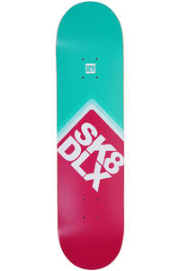 SK8DLX Cube Logo 7.875&quot; Deck (pink turquoise)