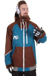 Analog Greed Snowboard Jacket (frostline blue saddle brown)