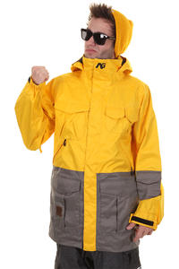 Analog Freedom Snowboard Jacket (corp yellow greyscale)