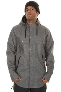 Burton Restricted Compile Snowboard Jacke (true black white stripe)