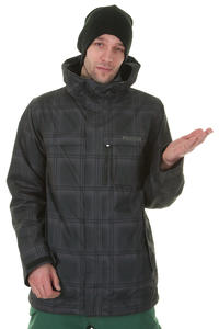 Burton Poacher Snowboard Jacke (true black ghost plaid)
