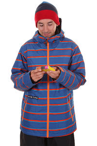 Burton Faction Snowboard Jacke insulated  (royals marcos stripe)