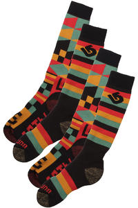 Burton Weekender Two-Pack Socken US 5,5-13,5  (rasta)
