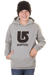 Burton Logo Vertical Hoodie kids (heather grey)