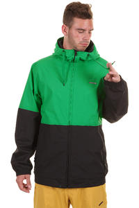 Zimtstern Hood Snowboard Jacke (black green)