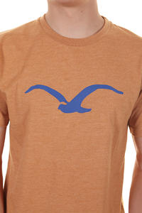 Cleptomanicx Möwe T-Shirt (heather sudan brown)