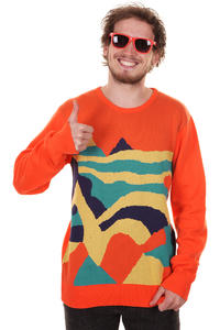 Cleptomanicx Wonderland Sweatshirt (tangerine orange)