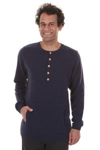 Cleptomanicx Chunky Sweatshirt (heather navy)