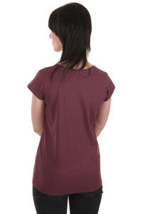 Cleptomanicx Mwe Scoop T-Shirt girls (burgundy)