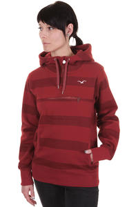 Cleptomanicx Stripe Hoodie girls (dried tomato)
