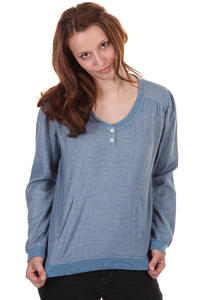 Cleptomanicx Sleeze Longsleeve girls (melange light blue)