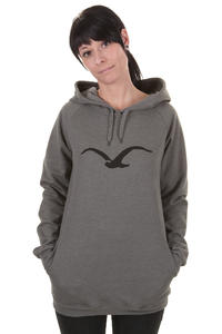 Cleptomanicx Möwe Long Hoodie girls (heather dark grey)