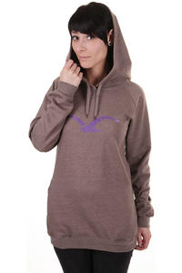 Cleptomanicx Möwe Long Hoodie girls (heather pepper)