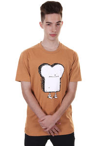 Cleptomanicx Toast T-Shirt (heather sudan brown)