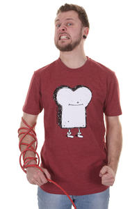 Cleptomanicx Toast T-Shirt (heather dried tomato)