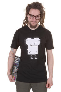 Cleptomanicx Pixel Toast T-Shirt (black)