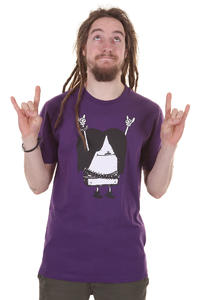 Cleptomanicx Metal Toast T-Shirt (acai purple)