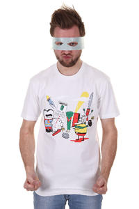 Cleptomanicx Superhelden T-Shirt (white)