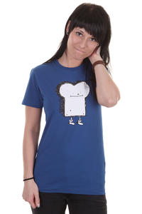 Cleptomanicx Toast T-Shirt girls (soda blue)