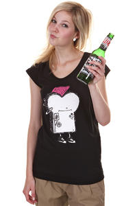 Cleptomanicx Punker Toast T-Shirt girls (black)