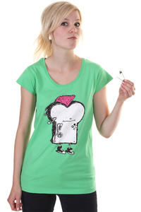 Cleptomanicx Punker Toast Scoop T-Shirt girls (spring bouqet)